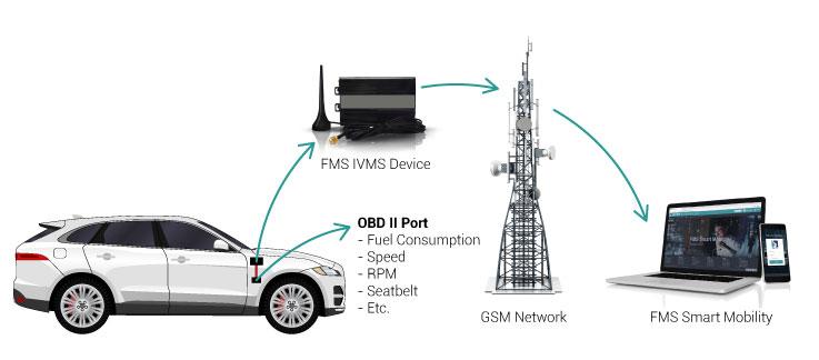 Fuel Management Solution Light Vehicles obdii port