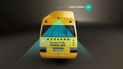 Smart School Bus System Back Left Camera