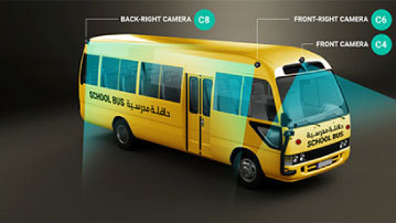Smart School Bus System Back Back Right Camera
