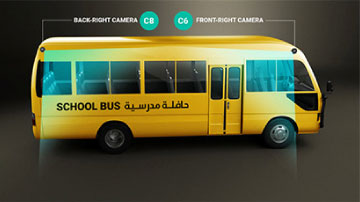 Smart School Bus System Front Right Camera
