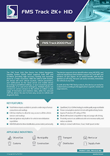 Download FMS TRACK 2000 PLUS HID Data Sheet