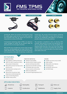 Download FMS Tech Tire Pressure Monitoring System Data Sheet